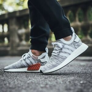the best attitude b620d 07ab6 Image is loading Adidas-NMD-R2-PK-Tiger-Camo-White-Grey-