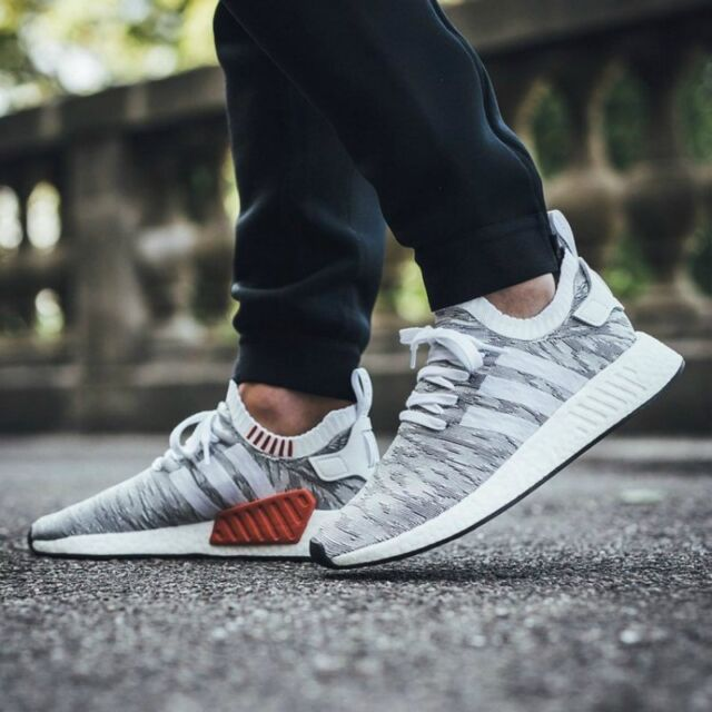 united states meet various styles Adidas NMD R2 PK Tiger Camo White Grey Glitch BY9410 7-13 boost prime knit  r1 3
