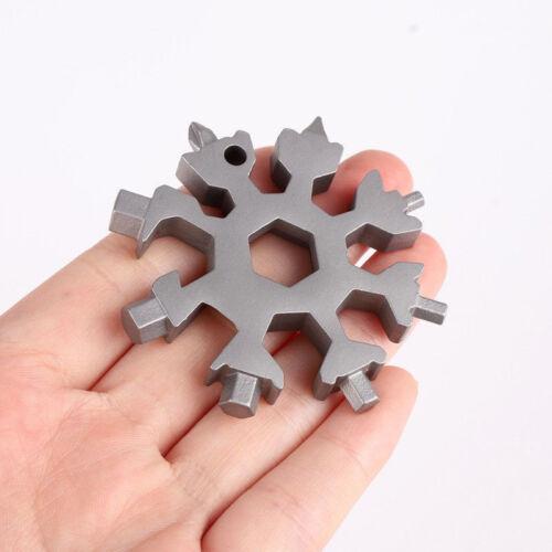 Multi Tool 18 In 1 Stainless Steel Snowflake Shape Flat Cross Head Screwdriver