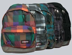 Eastpak-Rucksack-Backpack-034-Wyoming-034-Black-Checkbook-Orange-Checked-Green