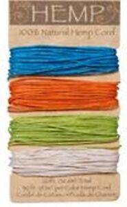 Bright Colors 100% Natural 20lb Hemp Cord Set 120ft