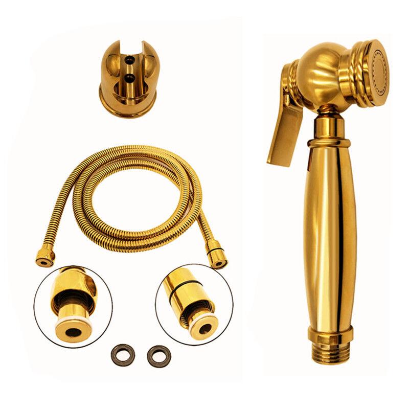Luxury Gold Brass Toilet Bathroom Hand Held Handheld Sprayer Shower Bidet Spray