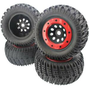 Marque De Tendance Thunder Tiger 1/8 Emta 4 Tires & Y Red Wheels 23mm Black G3 Bead Lock Mt4