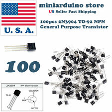100Pcs 2N3904 TO-92  common NPN bipolar junction general purpose transistor USA
