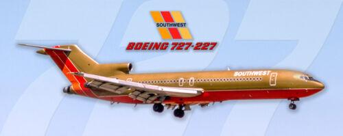 PMT1692 Soutwest Airlines Boeing 727-200 Photo Magnet