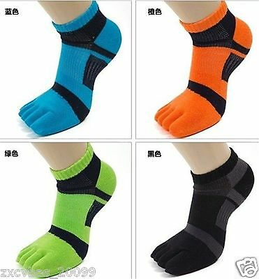 5 pairs new five finger toe socks men sports socks antibacterial deodorant