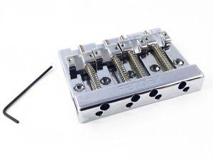 NEW-Fender-High-Mass-Bass-BRIDGE-Badass-Style-Guitar-Parts-Chrome-099-4407-000
