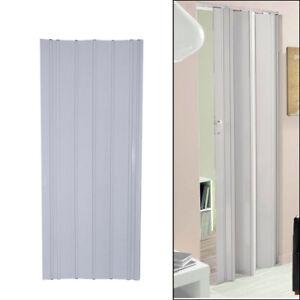 12MM PVC Folding Door Panel Sliding Utility Indoor Internal Closet Room Divider