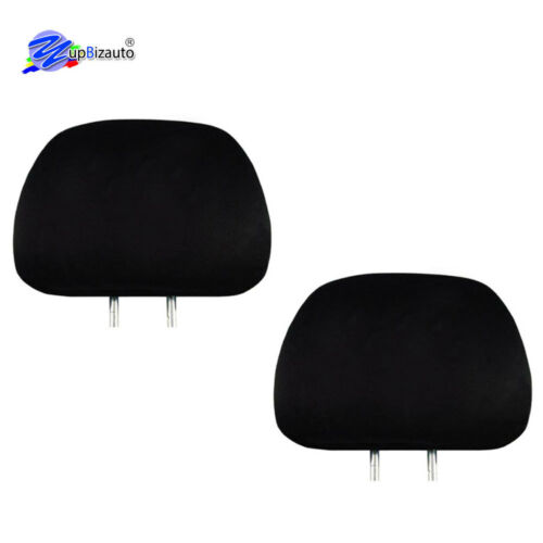 For BMW SOLID BLACK CLOTH CAR HEADREST COVERS WITH FOAM BACKING SET OF 4