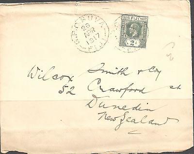 100% Waar Fiji 1917 King George V 2d Greyish Slate - 23522