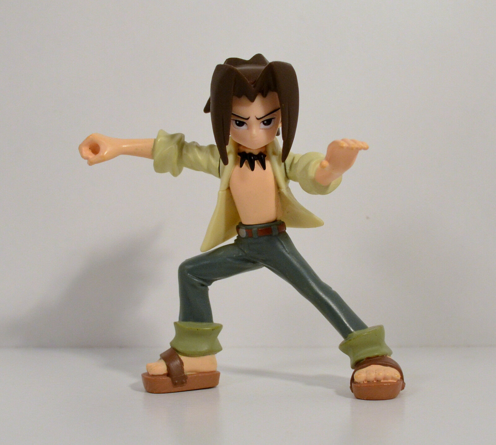 2004 Yoh Asakura 4  Mattel Anime Action Figure Naruto Shaman King Shonen Jump