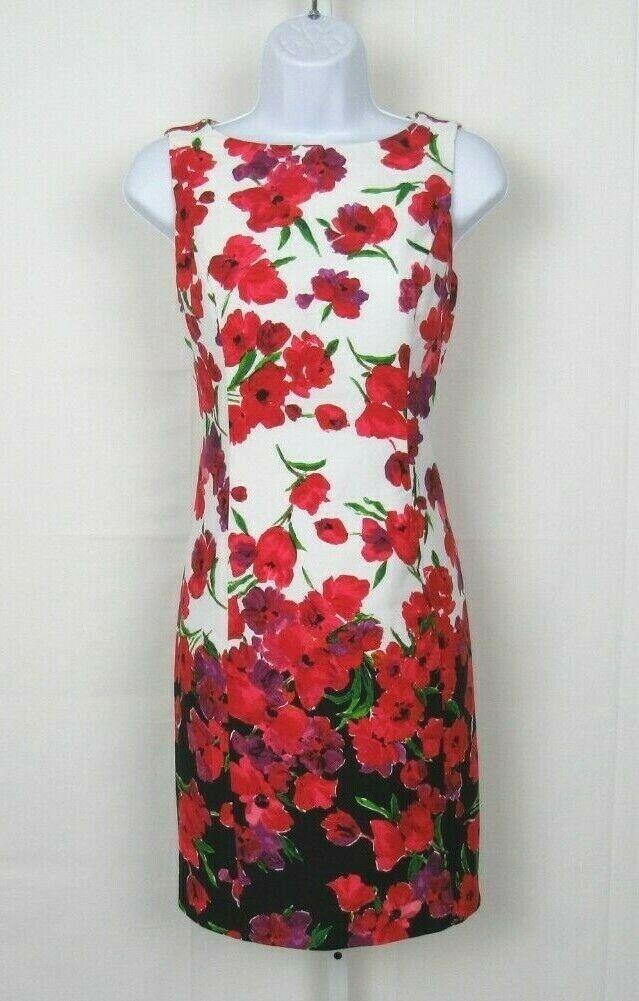 VTG 1980s 90s CHAPS RALPH LAUREN FLORAL DRESS SIZ… - image 8