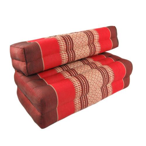 Double Fold Meditation Cushion Red/Maroon (DM24)