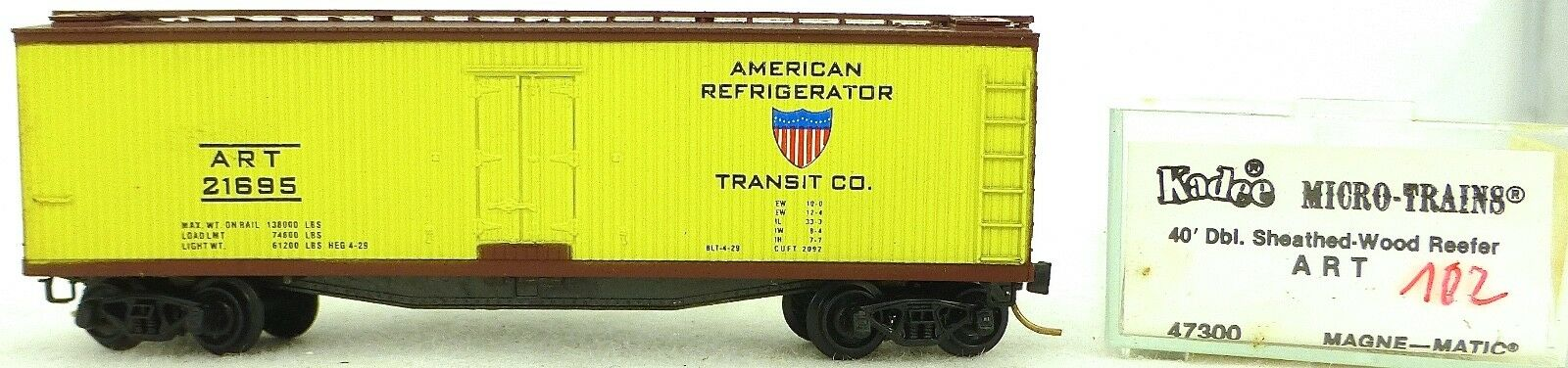 Micro Trains Line 47300 Art 21695 40' Wood Reefer 1 160 Emballage D'Origine 102g