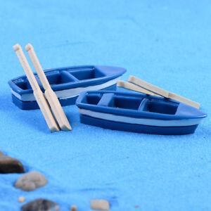 AA-Cn-1pc-Boot-2pcs-Ruder-Miniatur-Simuliert-Modell-Puppenhaus-Kunst