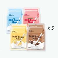 [g9skin] Milk Bomb Mask Sheet 21ml 5pcs Set - 5 Type (choose 1) / Usa Seller