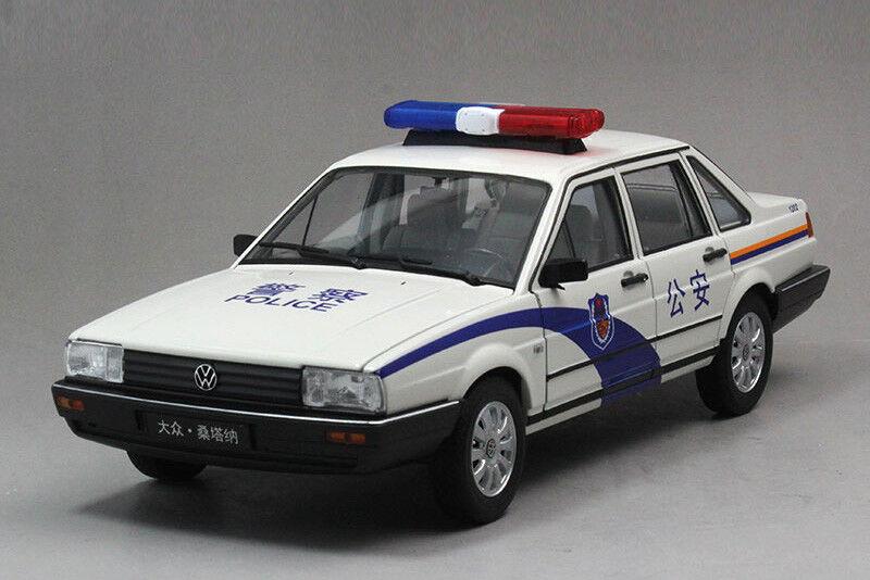 1   18 ei fx volkswagen santana polizeiauto modell + geschenk