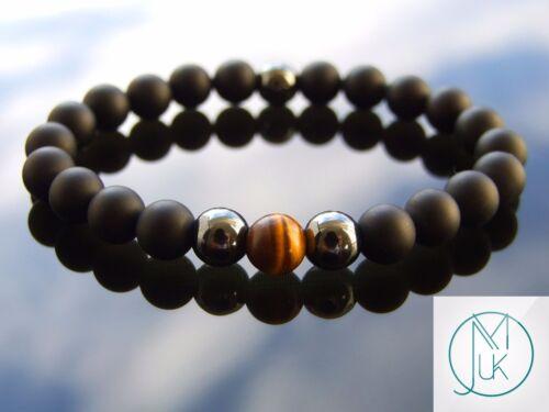 Elegant Yellow Tigers Eye Natural Gemstone Bracelet 6-9/'/' Elasticated Healing