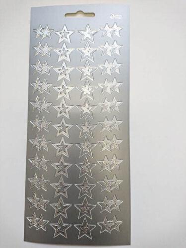 Simple estrellas De Navidad Oro Plata Metálico despegar Hoja Pegatina Tarjeta Artesanía