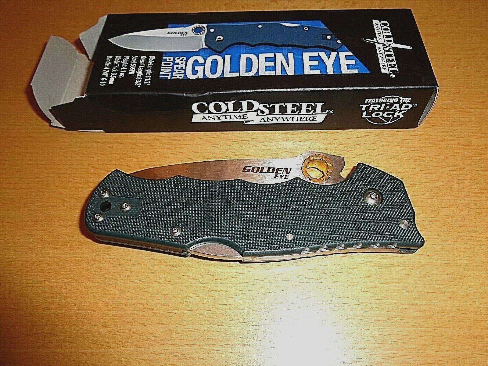 Cold Steel oroen Eye  3.5  S-30VN Blade, tanto carpeta, Nuevo En Caja, Precio de venta sugerido por el fabricante