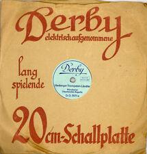"""SCHELLACKPLATTE KLEINFORMAT """"Derby"""" 20 cm; Hachinger-Trompeten-Ländler 78rpm M50"""