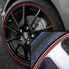 Wheel Band Rim Protector for Porsche Macan | Black / Red
