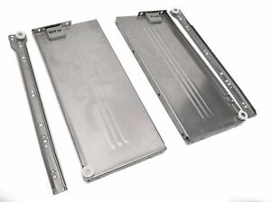 Metabox Metal Drawers Sides//Runners Slides Rollers Set White H-118