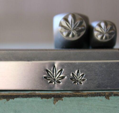SUPPLY GUY 7mm//5mm Hemp Pot Leaf Metal Punch Design 2 Stamp Set SGCH387386