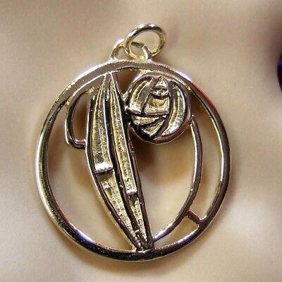 Oro 9ct nuevo Charles Rennie Mackintosh Colgante