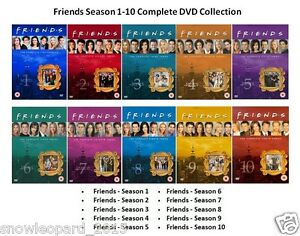 Details about FRIENDS COMPLETE SERIES - 1 2 3 4 5 6 7 8 9 10 All Episode  Season DVD UK R2