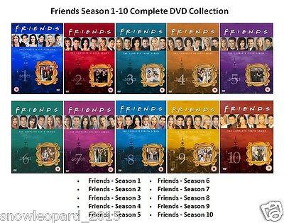 FRIENDS COMPLETE SERIES - 1 2 3 4 5 6 7 8 9 10 All Episode Season DVD UK R2  | eBay
