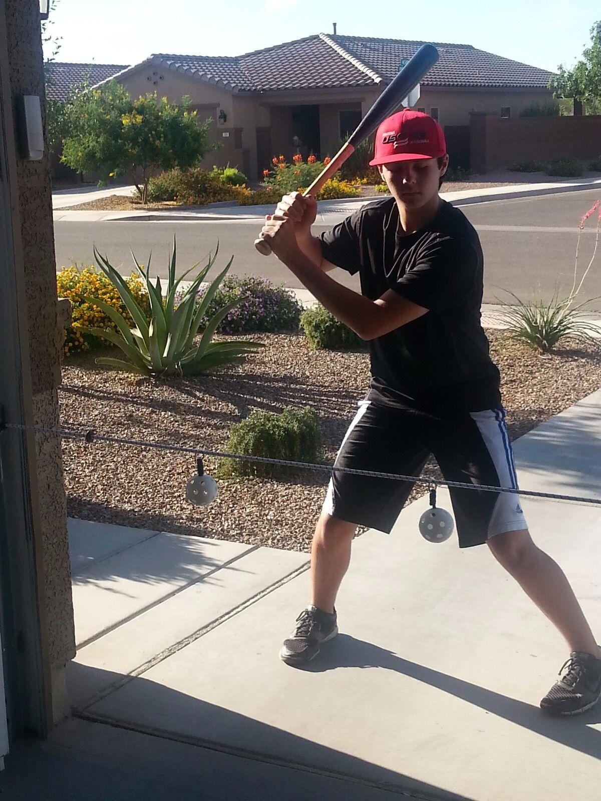 Baseball Swing Line Trainer 2 ball batting trainer