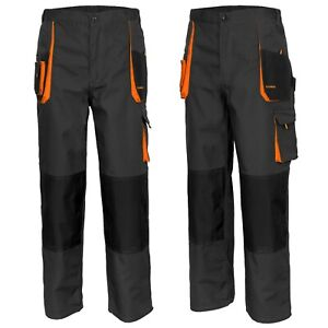Heavy-Duty-MENS-WORK-TROUSERS-Knee-Pad-Cargo-Combat-Style-Multi-Pocket-Dungarees