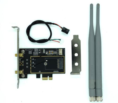 M.2//NGFF Wireless Card to PCI-e 1X Desktop WIFI WLAN CARD Adapter for 8260 9260