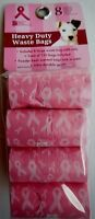 Bow Wow Pet 918nbc Dog Waste Bags With Pink Breast Cancer Awareness Qty 120