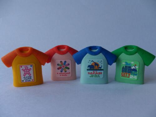 IWAKO T-Shirt Eraser in 4 Colours IWAKO Japanese Novelty Eraser Rubber