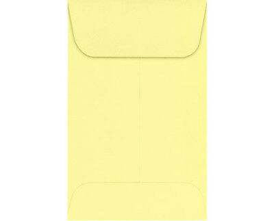 4-1//4x 2-1//2 #3 COIN ENVELOPES 4.25 x 2.5 Light Yellow Gummed Seal Acid-Free