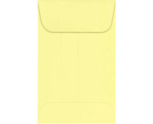 4-1//4x 2-1//2 #3 COIN ENVELOPES 4.25 x 2.5 Light Yellow Gummed Seal Acid-Free