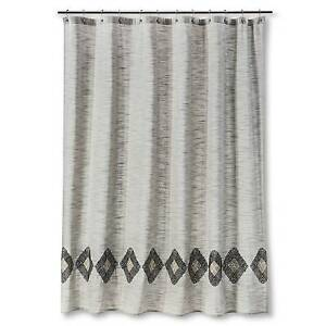 Threshold Embroidered Diamond Shower Curtain For Sale Online
