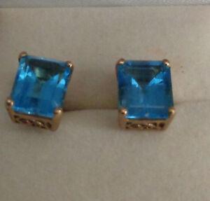 DECO-10KT-YG-BLUE-TOPAZ-EARRINGS-POST-DESIGN