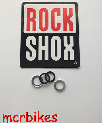 ROCK SHOX 8mm CRUSH WASHERS ( X2 ) & OR RETAINERS PIKE REVELATION BOXXER TORA