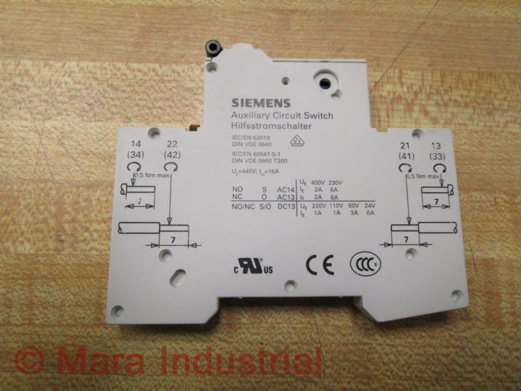 Siemens 5ST3010AS Auxiliary Circuit Switch