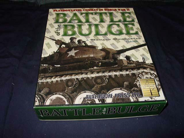 Avalanche Press - BATTLE OF THE BULGE game   Panzer Grenadier Game -  Unpunched