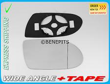 Wing Mirror Glass MERCEDES SLK  R171 2004-08 Wide Angle +BP + TAPE Right  /E018