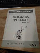 Original Oem Kubota At25 Tiller Manual J 2135