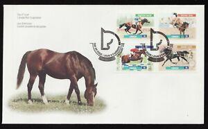 Sc 1791-94  FDC - Canada - 1999 - Famous Canadian Horses -  superfleas