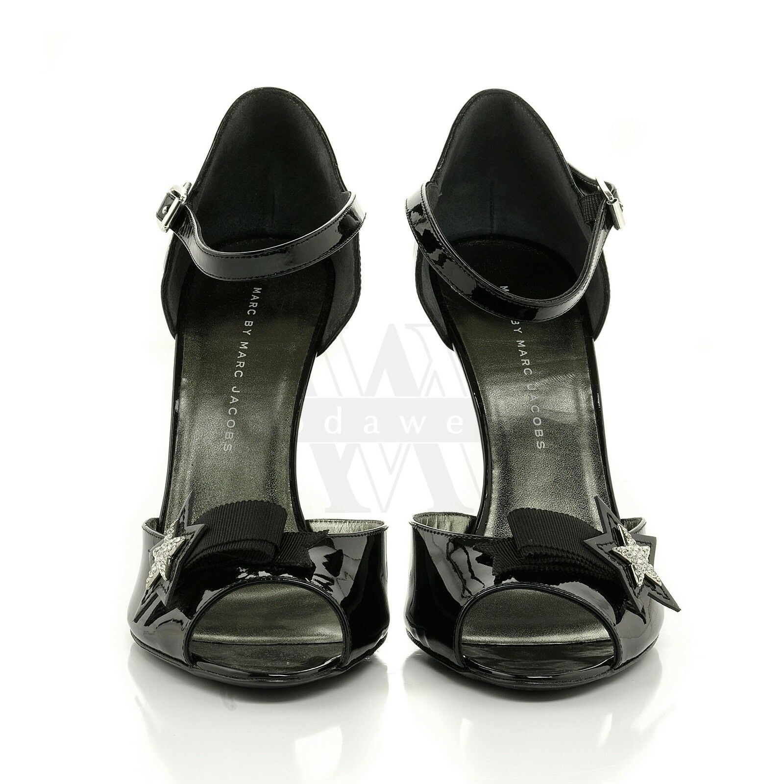 Marc Jacobs 693960 Black w/ Rhinestones Patent Leather Sandal 10 40 NIB $630