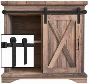 3-8FT Retro Super Mini Sliding Barn Door Hardware Kit ...