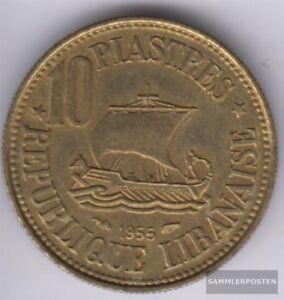 Honig Libanon Km.-nr.: 23 1955 Vorzüglich Aluminium-bronze 1955 10 Piaster Gute QualitäT