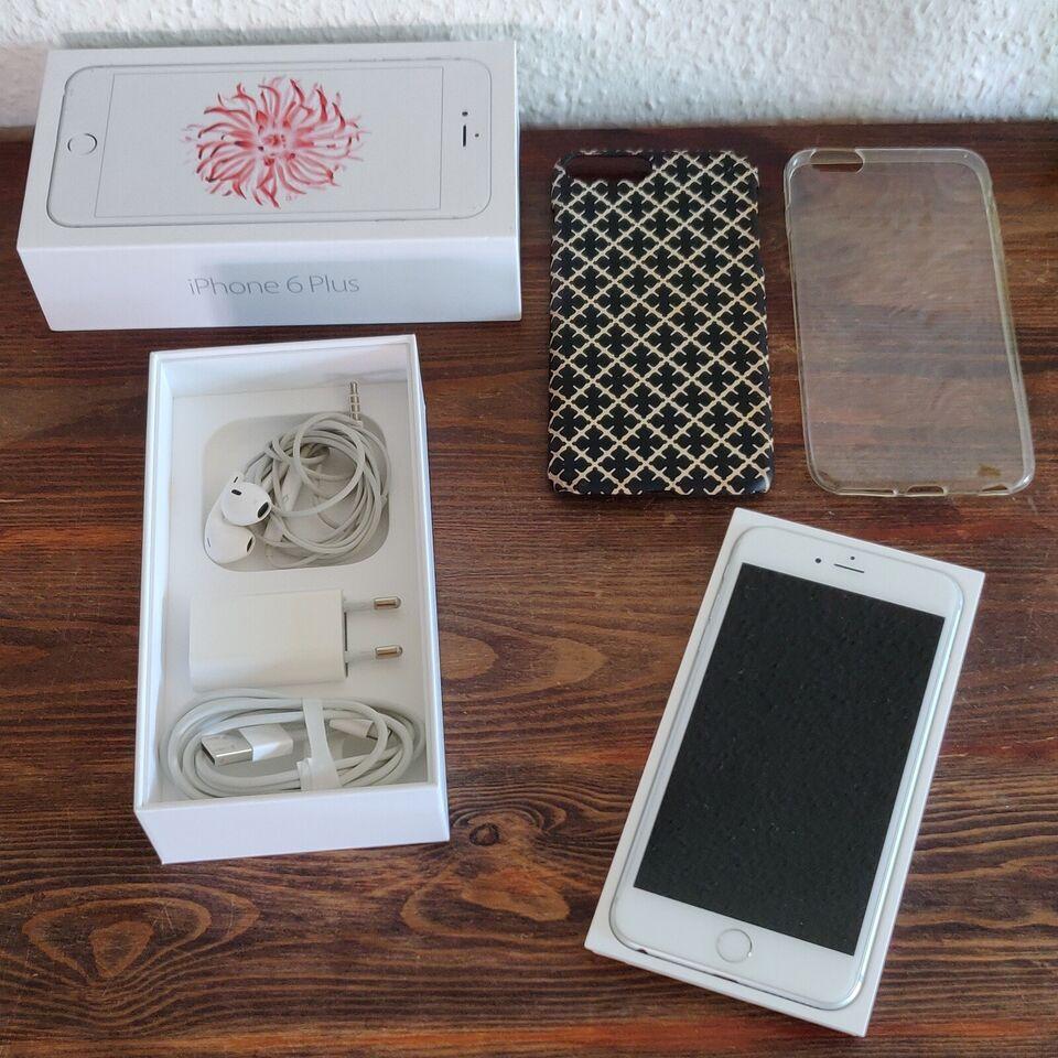 iPhone 6 Plus, 64 GB, hvid